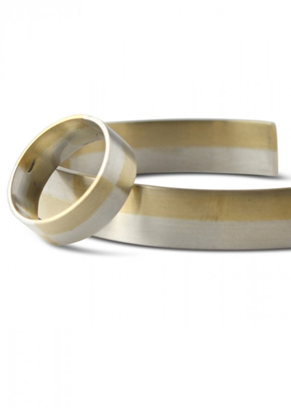 Ting Goods Checkered Ring silber messing