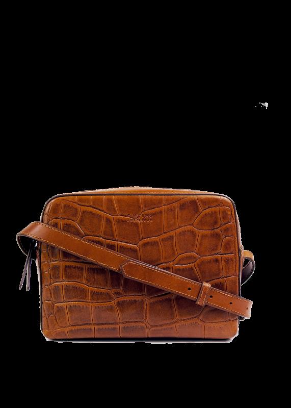 O My Bag Sue Cognac Croco Classic Leather
