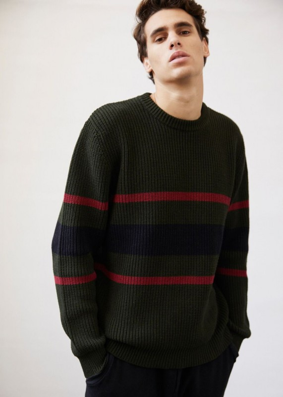 Sweaterhouse Pullover Stripes multi moss