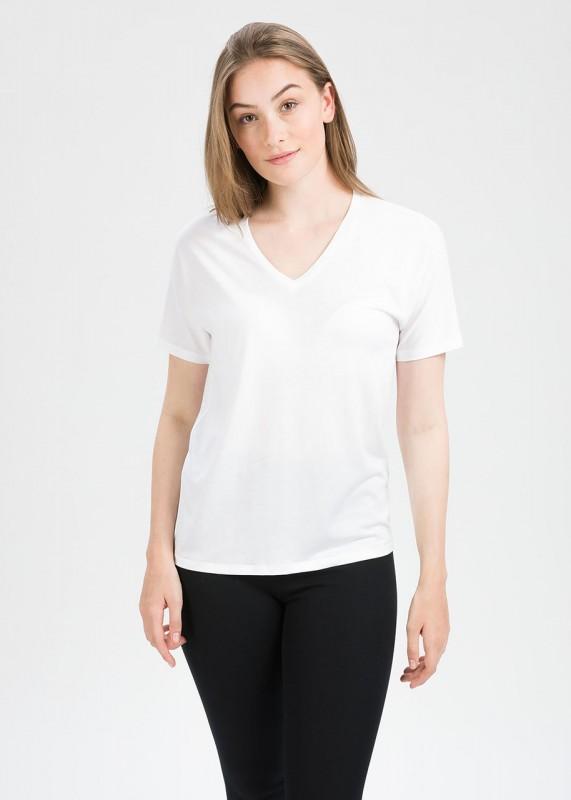 Funktionschnitt Shirt TREE weiß