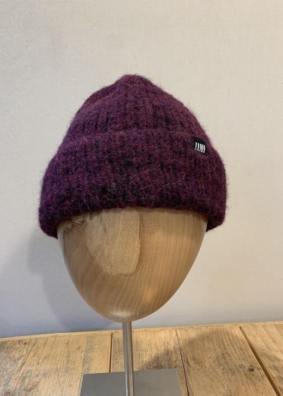 Soft Mütze aus Baby Alpaka, burgundy