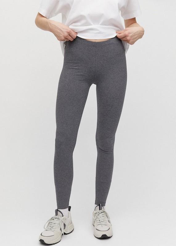 SHIVAA Basic Leggings aus Biobaumwolle,dark grey melange