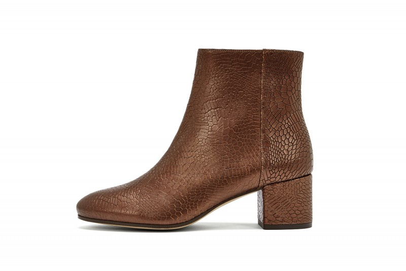 Nine To Five Ankle Boots Strand Leder bronze