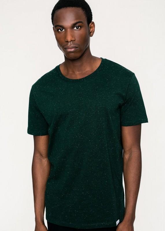 Rotholz Basic T-Shirt Dunkelgrün meliert
