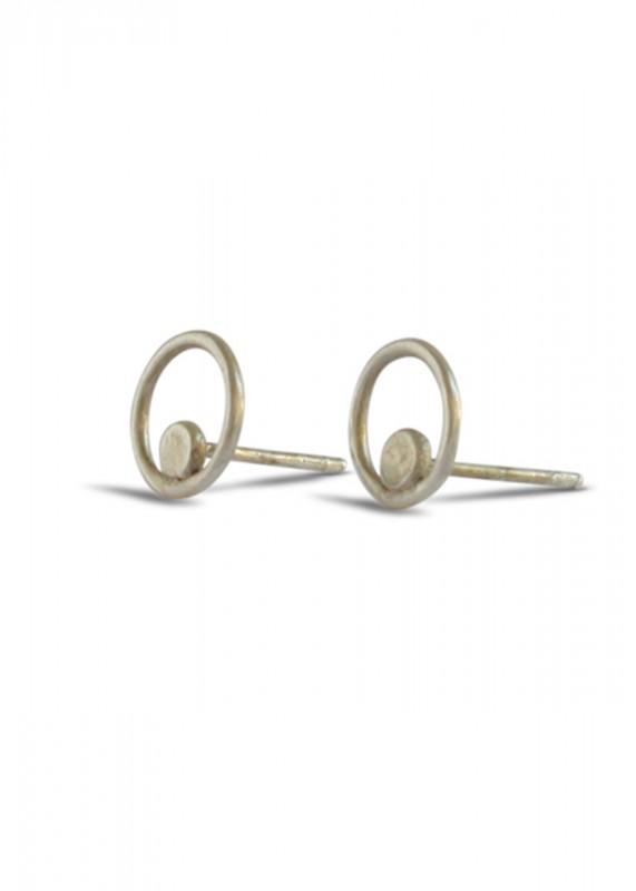 Ting Goods Circle Dot Stecker silber