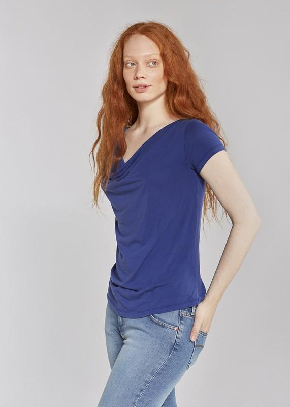 Les Racines Du Ciel Draped top sleeves indigo