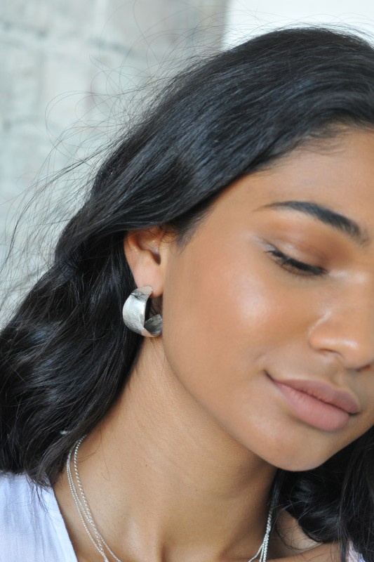 Wild Fawn Jewellery - Statement Organic Hoop Earrings
