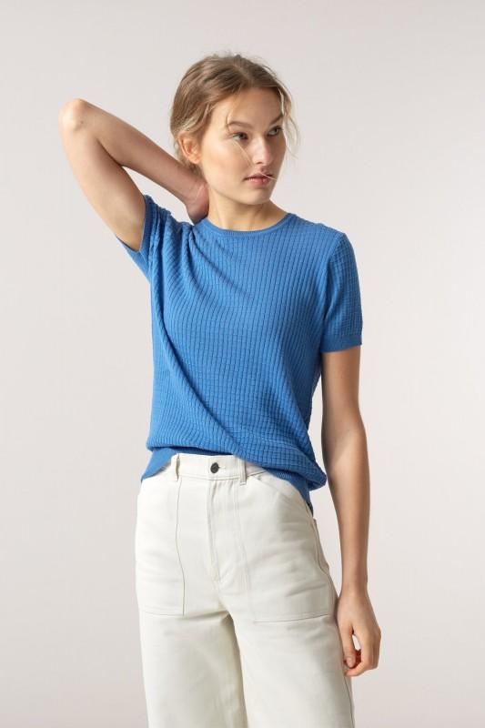 Funktionschnitt, T-Shirt Mako blue force