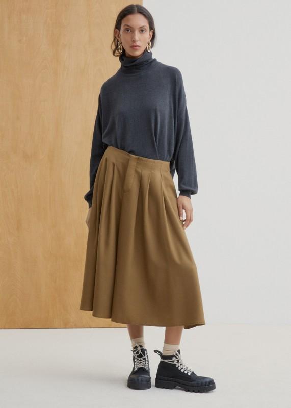 Kowtow Pavillon Skirt khaki