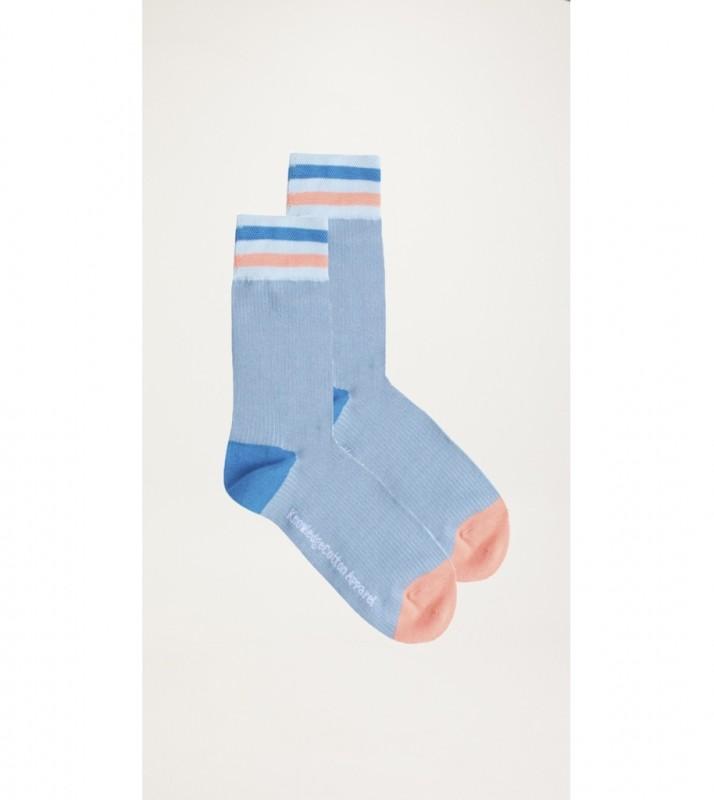 DIANE colorblock rib socks - GOTS/Vegan, asley blue