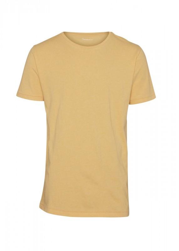 Knowledge Cotton Apparel Basic Shirt gelb meliert