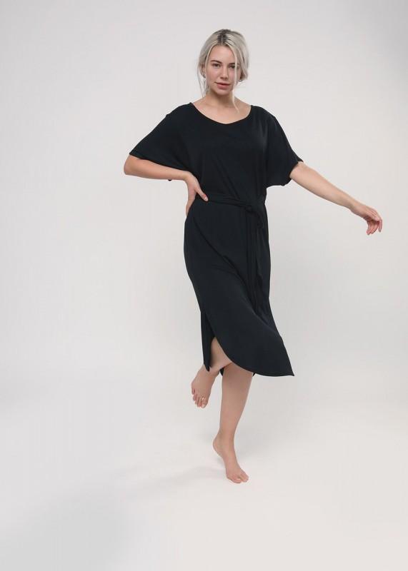 Lovjoi Kleid ZOISIT aus Tencel, schwarz