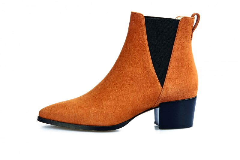 Nine To Five Chelsea Boots Brygge cognac