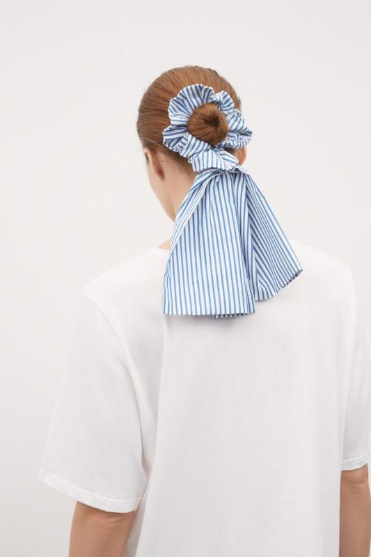 Kowtow Bow Scrunchie, Stripe
