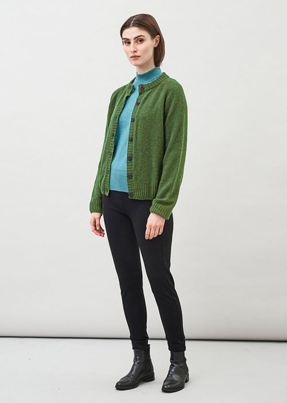 NALA Cardigan aus Wolle-Seide-Cashmere, green