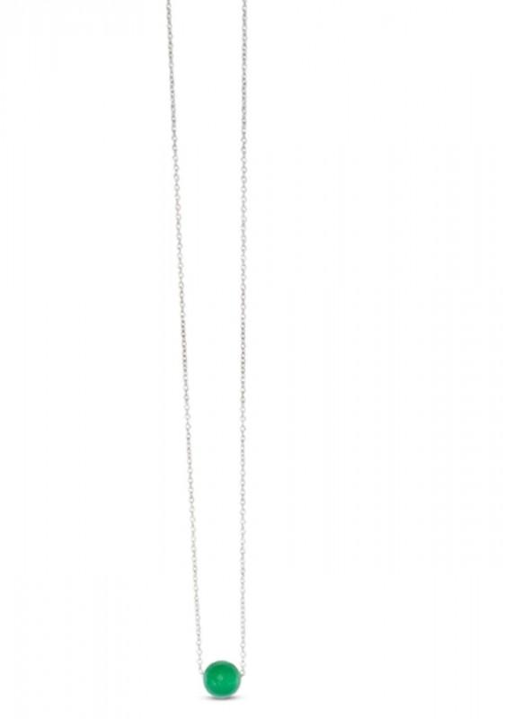 GRÜNER ONYX Halskette mit Silber