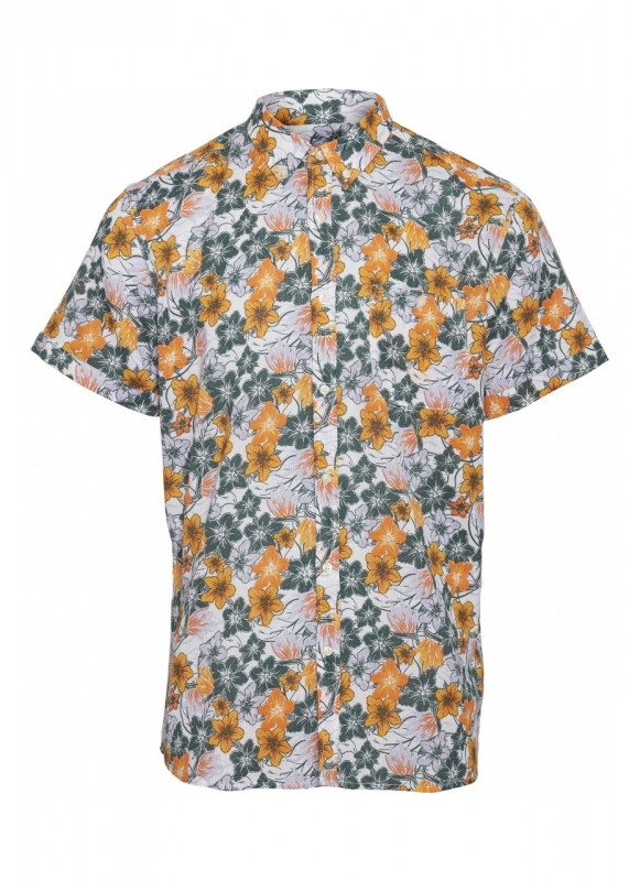 ELDER SS flower shirt - OCS/Vegan