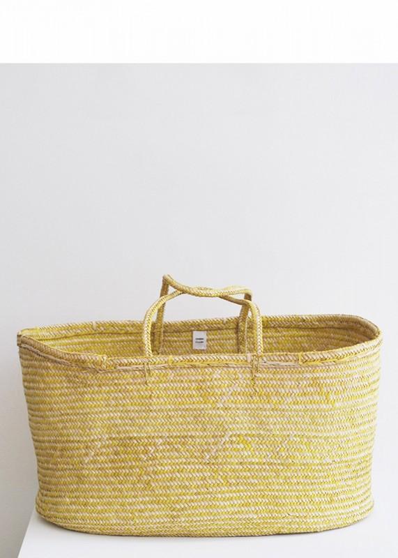 Palm-Korb handgeflochten, natur gelb