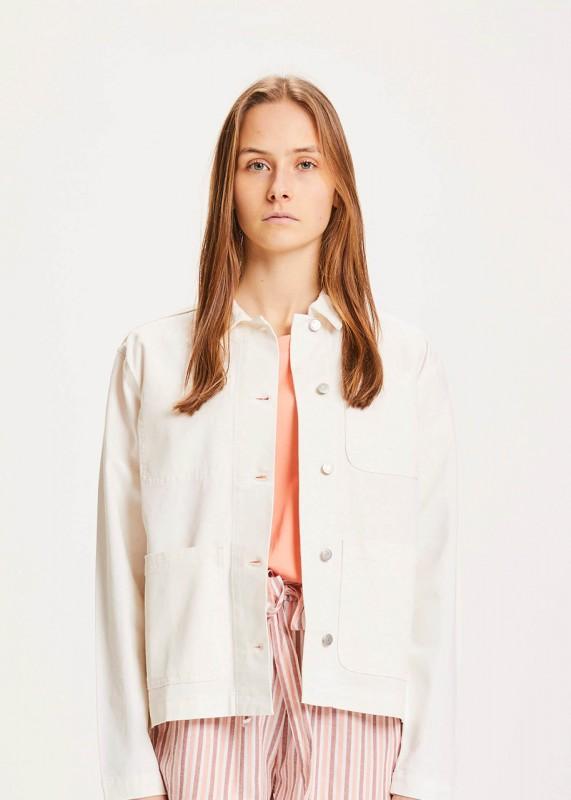 Knowledge Cotton Apparel CALANTHA workwear jacket - GOTS/Vegan, star white