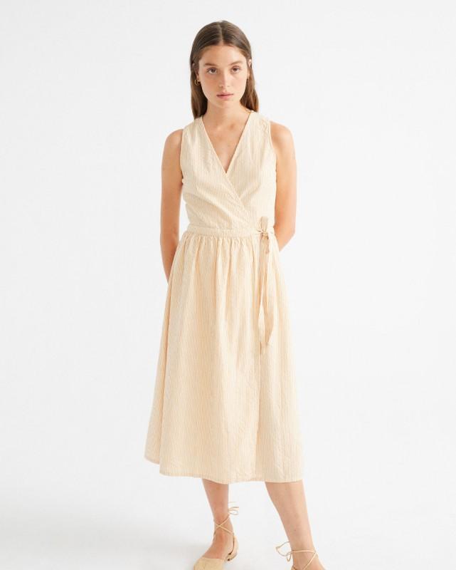 Thinking Mu Seersucker Amapola Dress