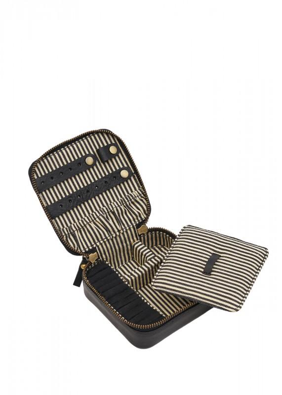 O My Bag Jewelryy Box black stromboli leather