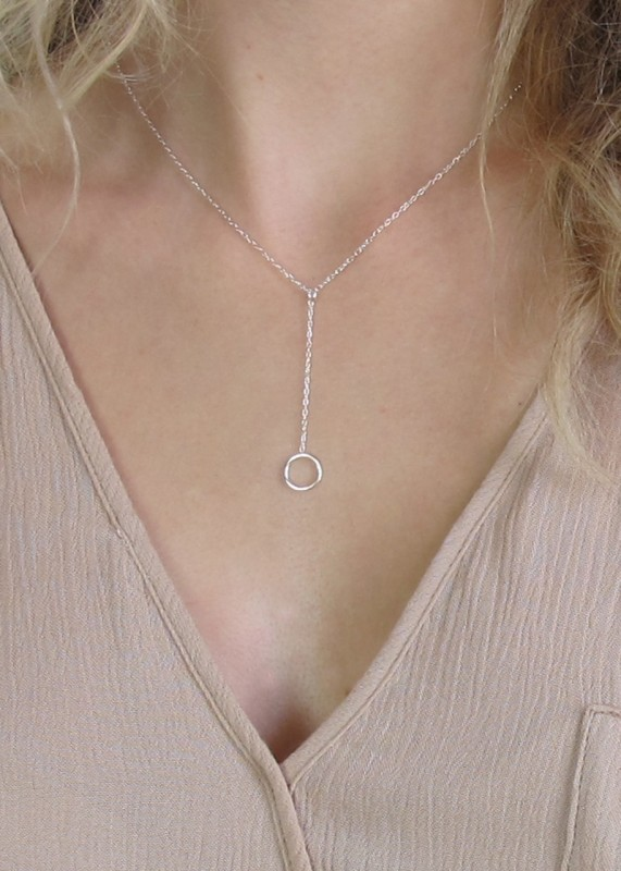 YCircle Halskette silber
