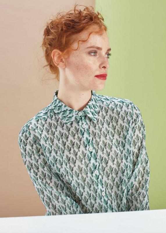 Hemdbluse aus leichter Baumwolle
