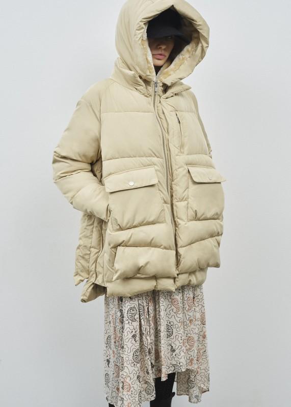 LYNDON Puffer Jacket - vegane Daunenjacke, sand