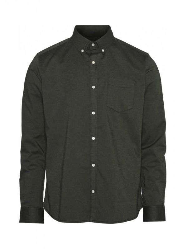 ELDER Oxford Shirt dunkelgrün - GOTS/Vegan