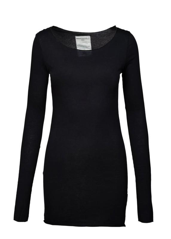Longsleeve schwarz, Pullover tailliert