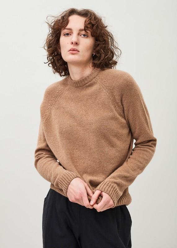 CY UNISEX Crewneck Sweater - Undyed Camel
