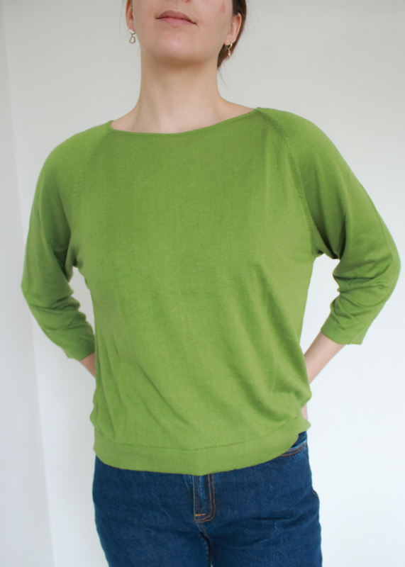 Maska - ORIN - Silk Cashmere Pullover, leaf green
