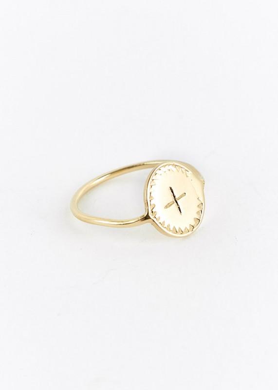 Ombre Claire Ring Rinde bronze vergoldet