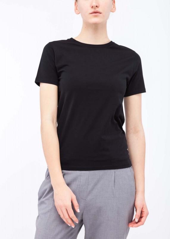 FunktionSchnitt Shirt Plain schwarz