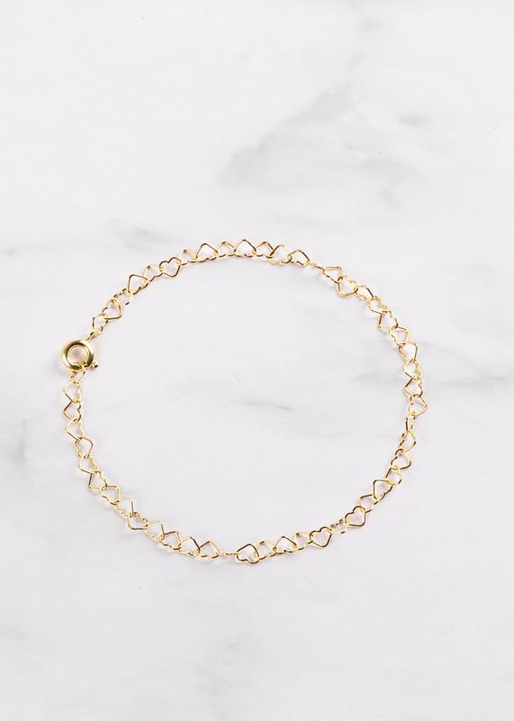 Herzchen Armband Silber, Silber vergoldet oder Rosegold, lokal gefertigt