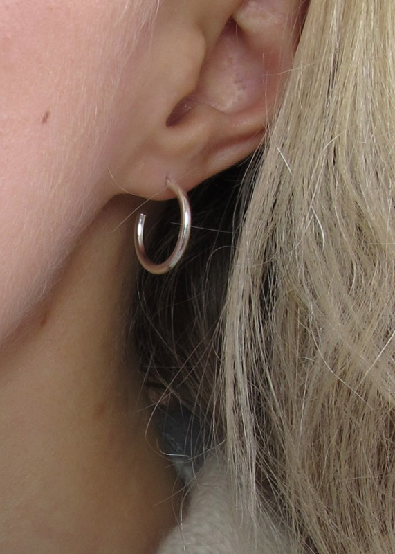 Wild Fawn Simple Silver Hoops