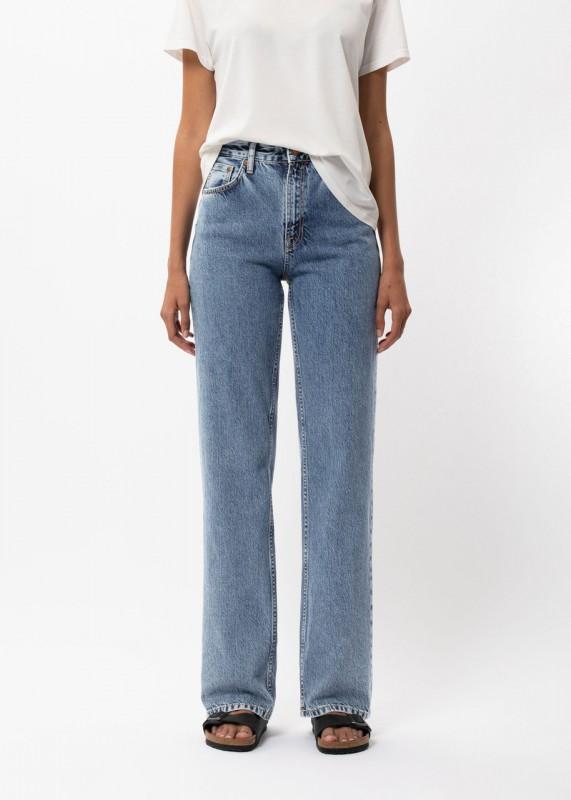 Nudie Jeans - High Waist Jeans Clean Eileen Gentle Fade