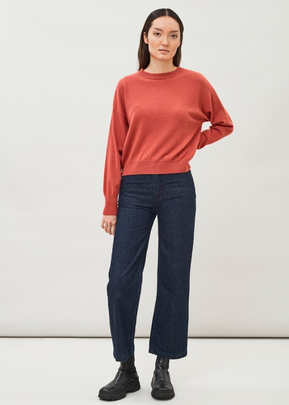IOR - Cashmere-Wollpullover dusty pink