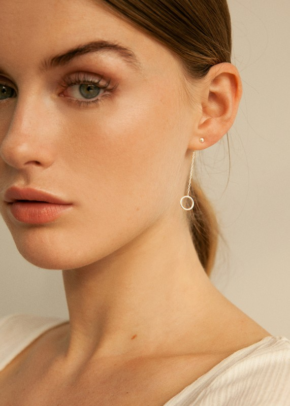 Chain Drop Studs, Ohrringe aus Fairtrade Silber