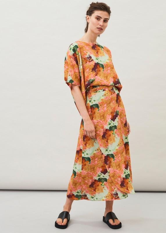 QUANA - Printed Viscose Wrap Skirt