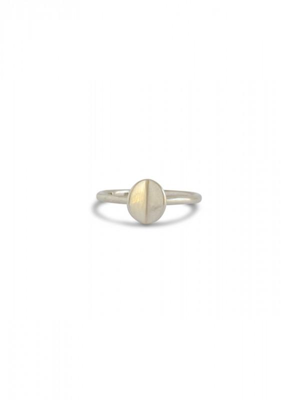 Folded Ring Silber