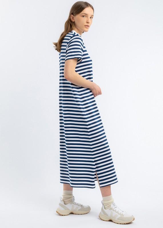 T-Shirt Kleid blau weiß gestreift