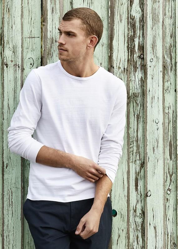 Longsleeve weiß aus Bio-Baumwolle