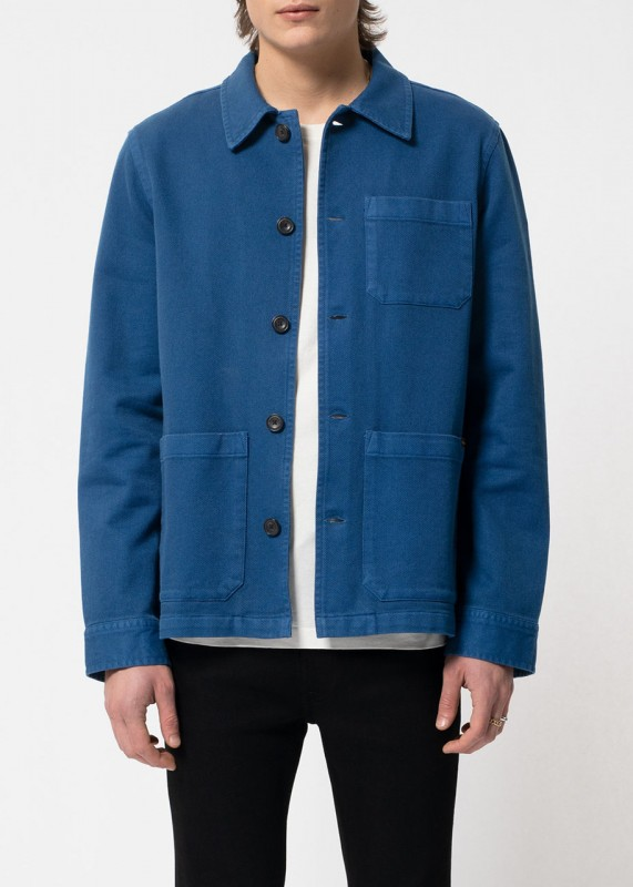 Nudie Jeans Barney Worker Jacket blue