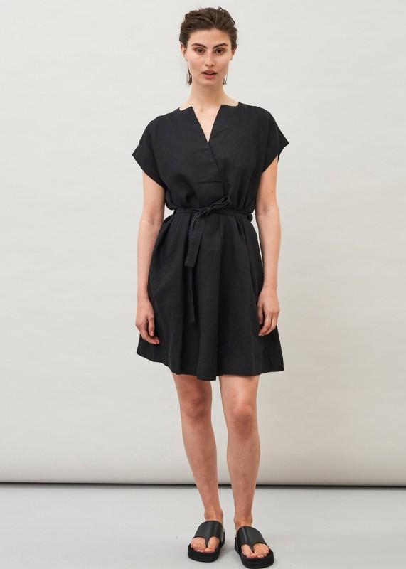 TAMI - Linen Dress, black