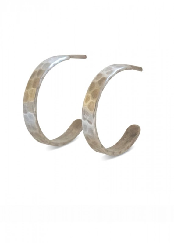 Ting Goods Hammered Hoops Silver
