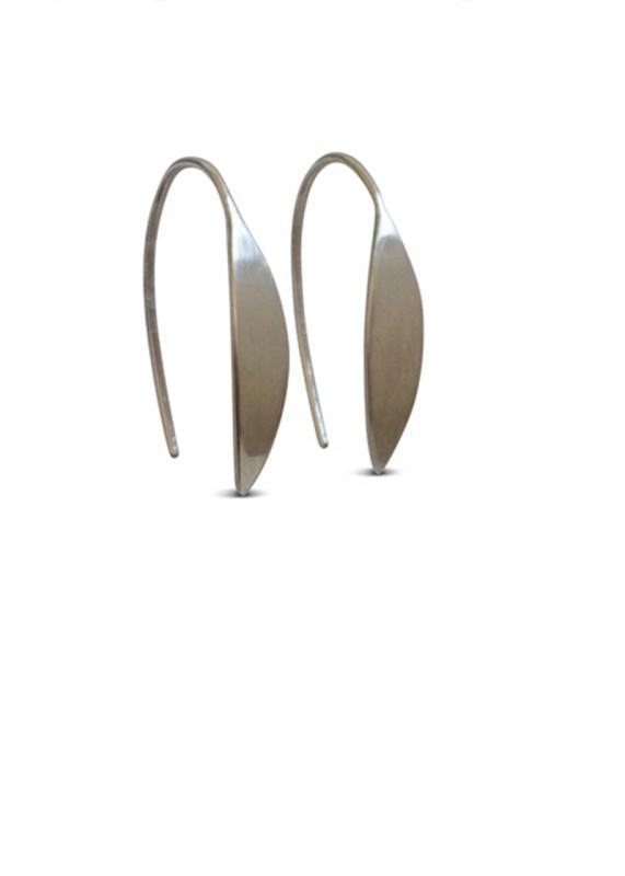 Ting Goods Leaf Ohrringe silber