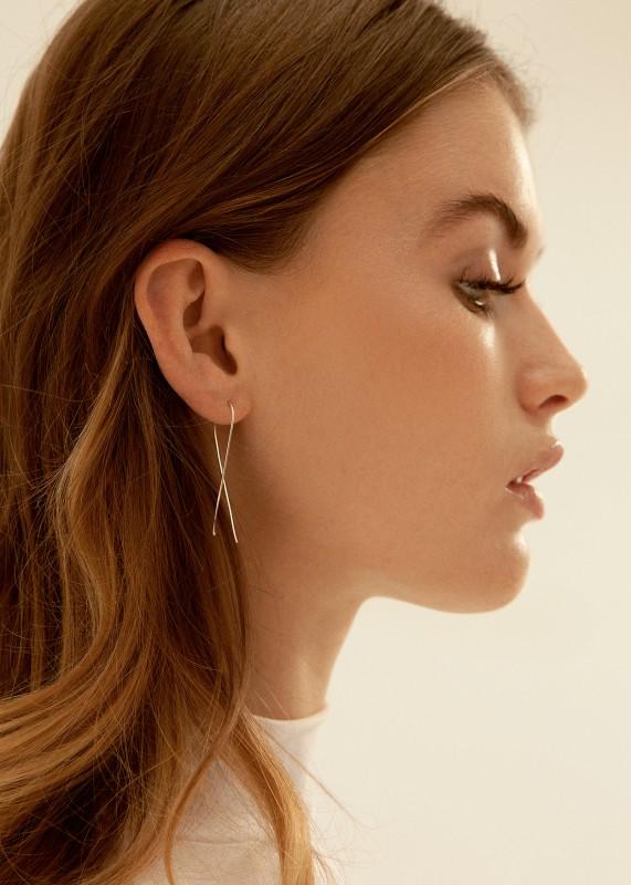 Wild Fawn Twist Earrings Silber