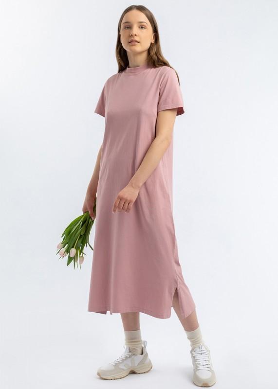 T-Shirt Kleid lavender rose