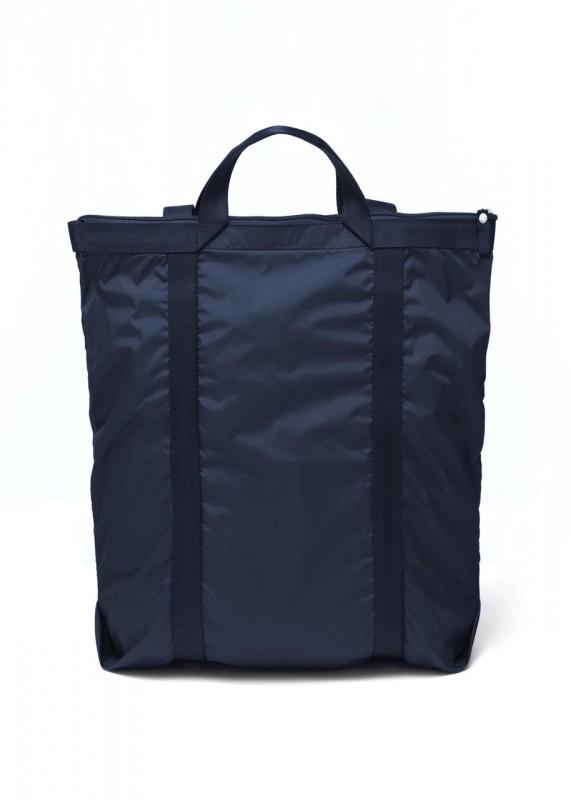 Nachtblaue Schultertasche, Rucksack faltbar